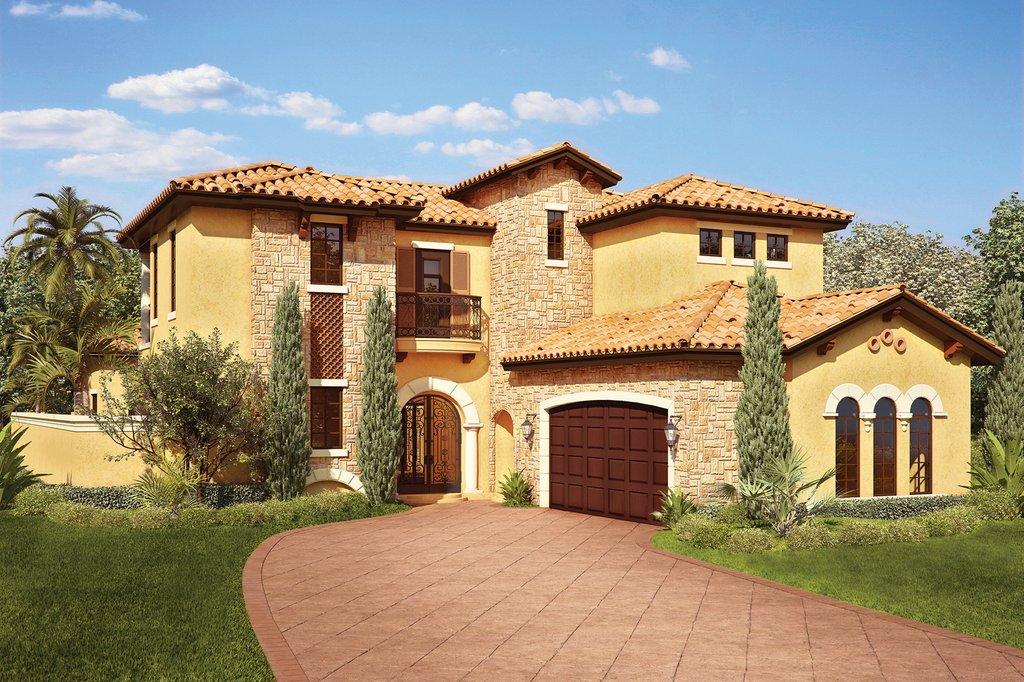 Mediterranean Style House Plan 4 Beds 5 Baths 3031 Sq Ft