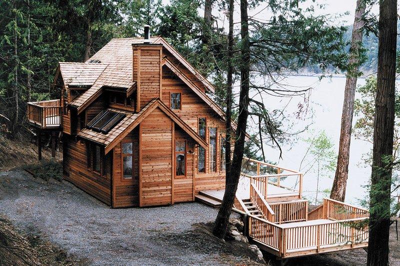 Cabin Style House Plan  2 Beds 2 Baths 1417 SqFt Plan