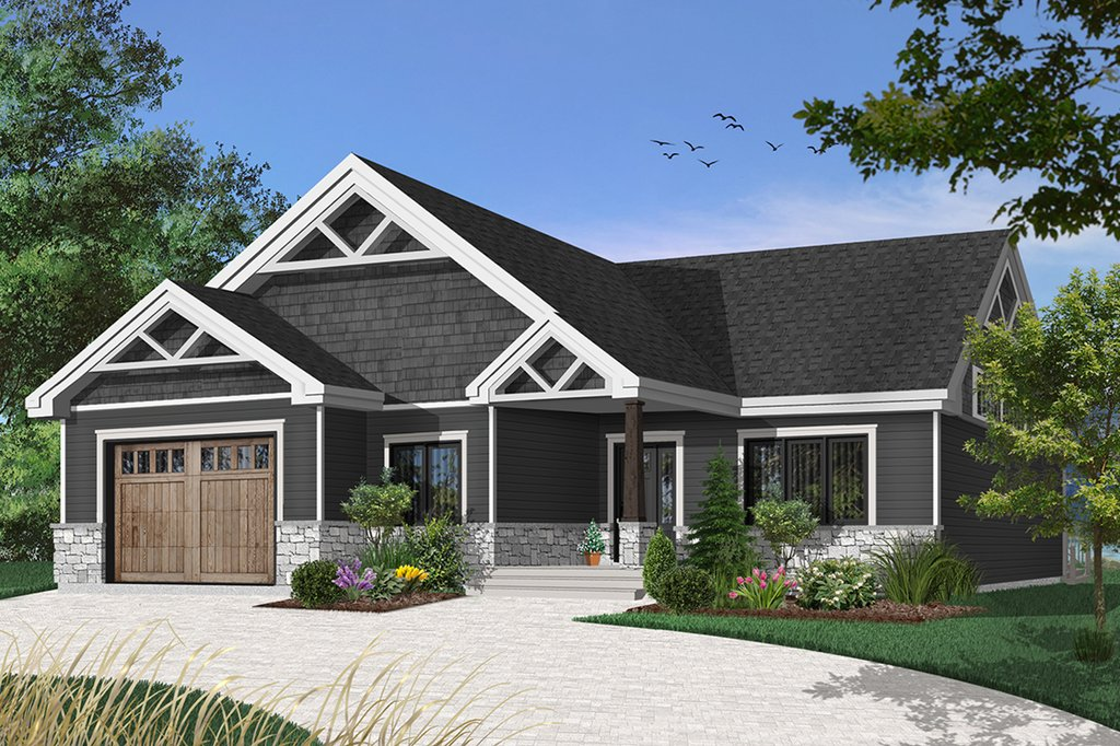 Craftsman Style House Plan 2 Beds 2 Baths 1504 Sq Ft
