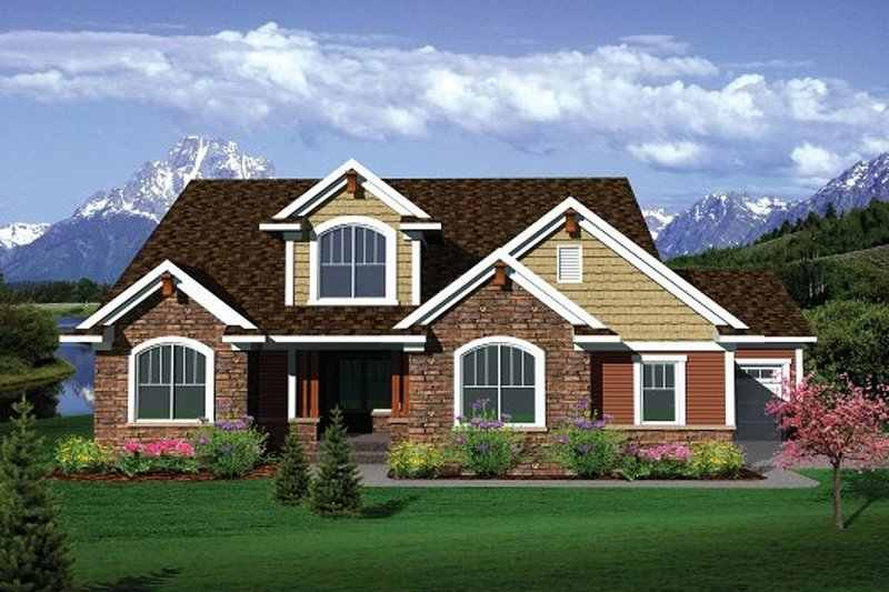 House Plan - 4 Beds 2 Baths 2493 Sq/Ft Plan #70-1104 ...