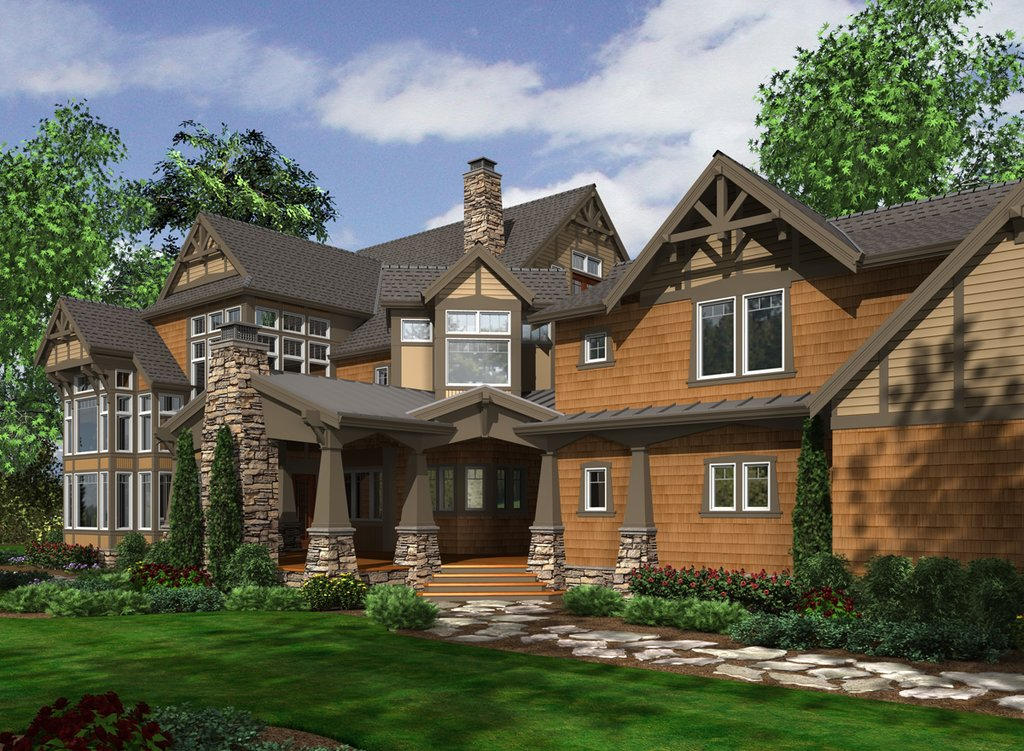 Craftsman Style House Plan 7 Beds 8 5 Baths 8515 Sq Ft