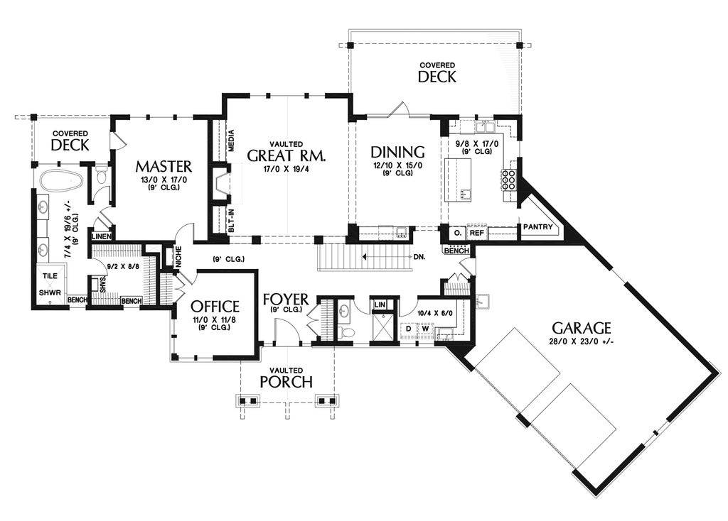 Craftsman Style House Plan 4 Beds 3 Baths 3121 Sq Ft