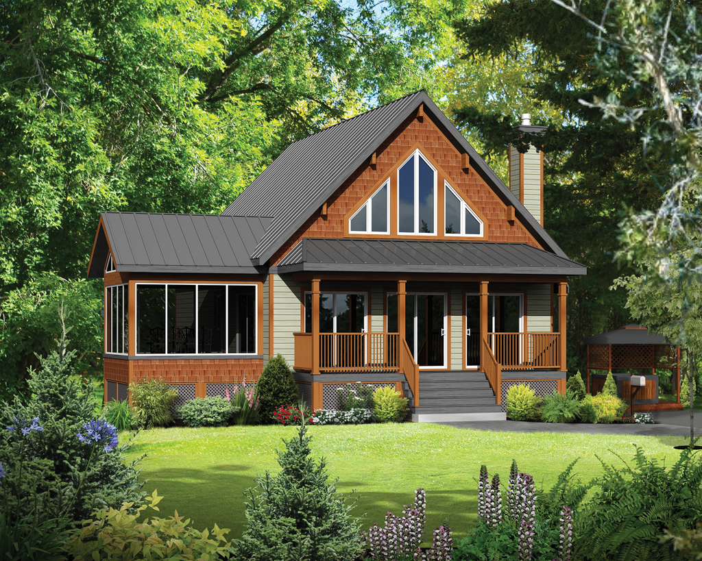 Cabin Style House Plan - 4 Beds 1 Baths 1440 Sq Ft