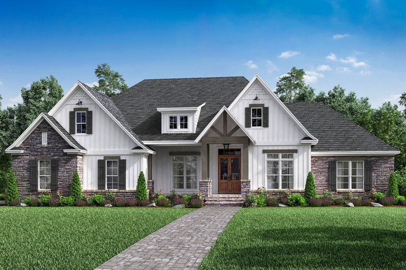 Craftsman Style House Plan 4 Beds 2 5 Baths 2589 Sq Ft