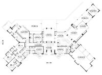 Ranch Style House Plan - 5 Beds 5.5 Baths 5884 Sq/Ft Plan ...