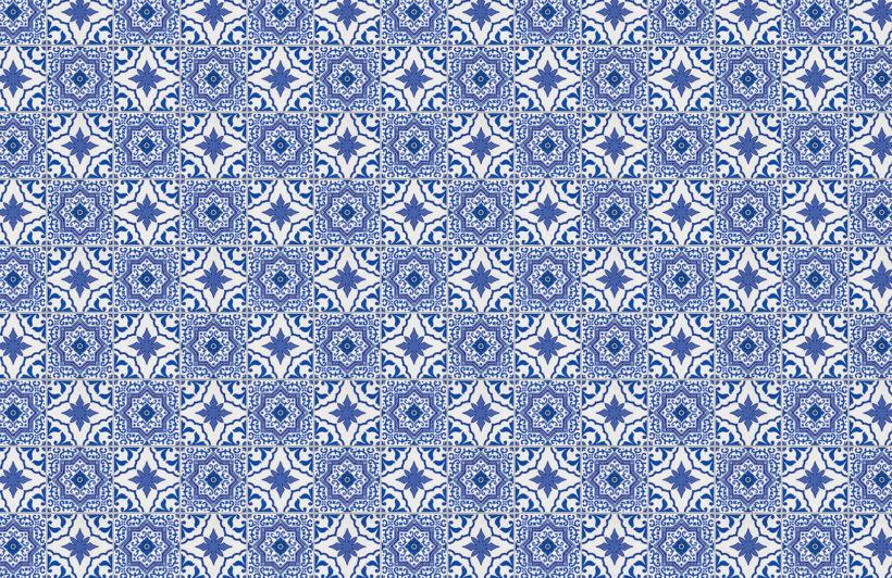 blue white portuguese tile wallpaper mural