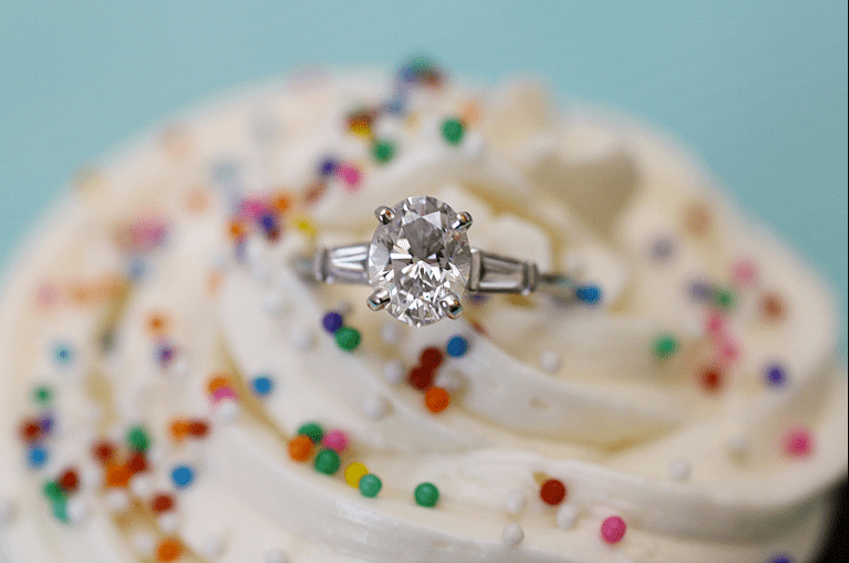 Engagement Rings with Cupcakes and Candy