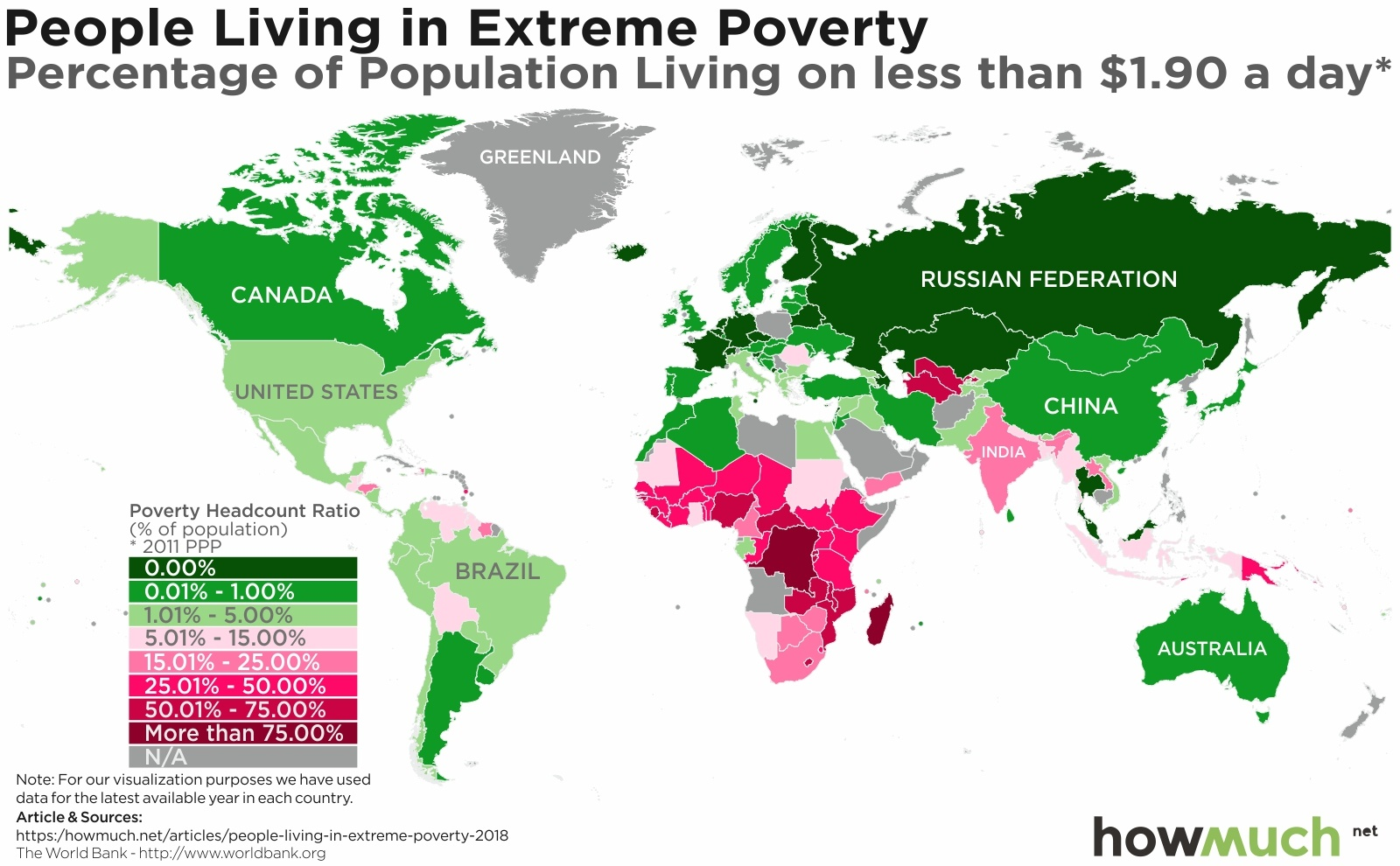 Mapping Extreme Poverty Around The World