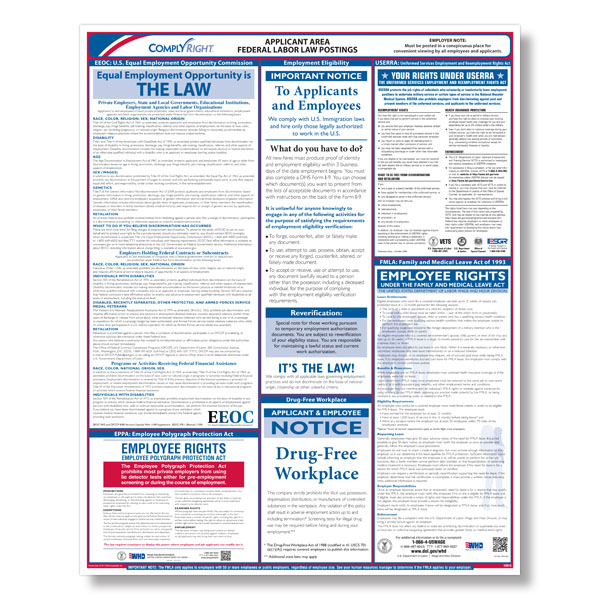 federal applicant area poster