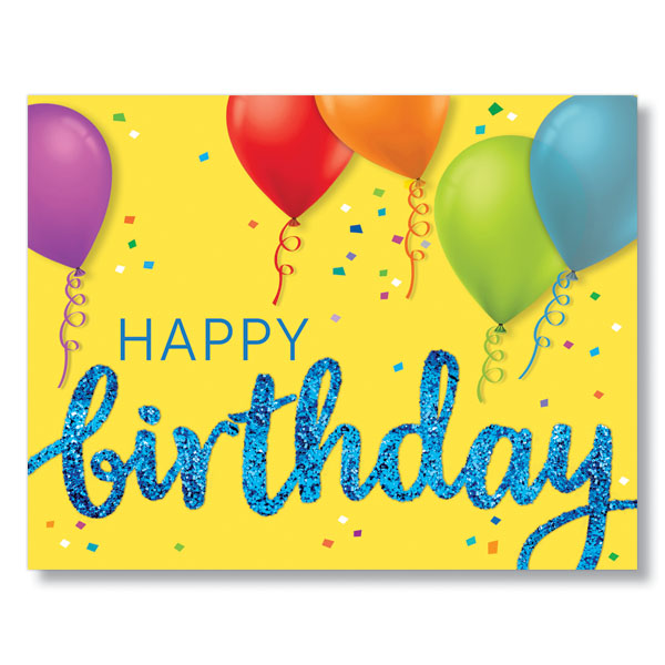 Try Our PY Birthday And Balloons Corporate Birthday Cards