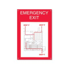 Example Of Fire Exit Diagram Editable Puzzle Emergency Board Sign In The Workplace