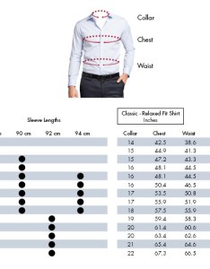Classic relaxed fit shirts also van heusen guide size chart australia rh vanheusen