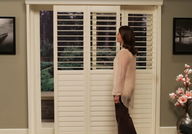 Sliding Window Shutters  Bypass Track  Hunter Douglas