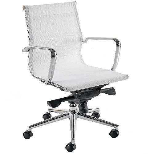 white mesh office chair uk italian leather chairs breeze bm2 medium back arm huntoffice co