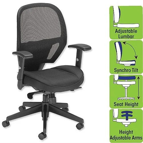 chair for office use high stool task mesh seat black w520 x d520 h470 600mm influx amaze operator perfect or home