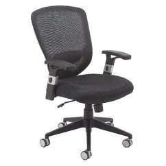White Mesh Office Chair Uk English Roll Arm And A Half Arista Fusion High Back With Lock Tilt Black Huntoffice Co