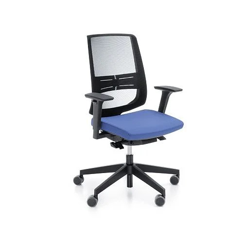 office chairs with back support uk metal frame leather chair lightup modern design mesh lumbar adjustable arms blue fabric seat huntoffice co