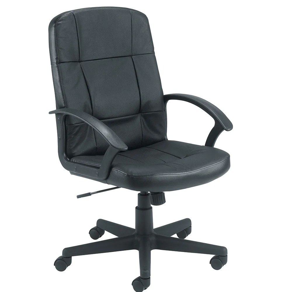 How To Adjust Office Chair Jemini Medium Back Leather Look Executive Office Armchair Black Seat Height Adjust 450 550mm Weight Capacity For Up To 114kg Back Rest Height Is