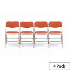 Upholstered Folding Chairs Uk Medline Transport Chair Accessories Ff Jemini Km Plastic Red Huntoffice Co Steel With Upholstery Set Of 4