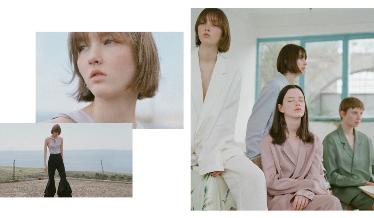 Looks from an advertising campaign for Chinese fashion brand Urban Revivo.