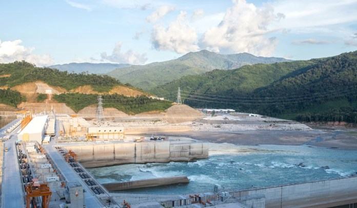 The hydroelectric Xayaburi Dam on the Mekong River in the north of Laos – a nation which exports 30 per cent of all the power it generates. Photo: Shutterstock