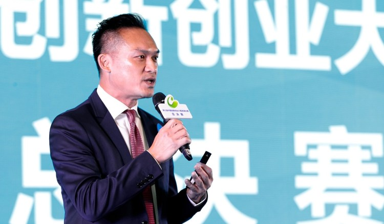 Aldous Ng, co-founder of CU Coding, is promoting its locally developed network coding technology in the Greater Bay Area.