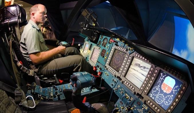 A Sukhoi Su-34 cockpit simulator. Photo: Handout