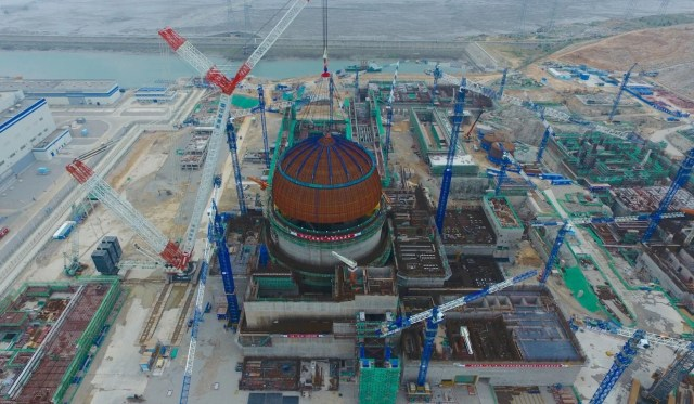 A total of 12 nuclear reactors in China – either under construction or going through the approval process – use Hualong One technology. Photo: Xinhua