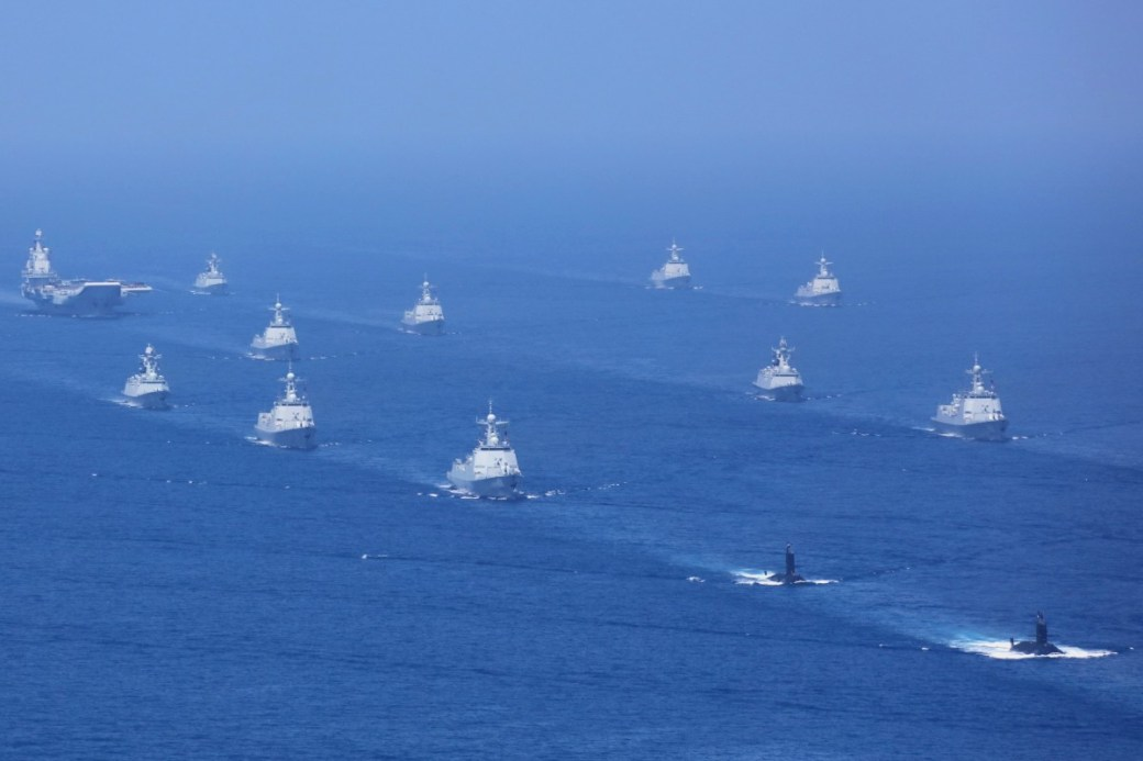 The PLA Navy held its largest ever fleet review in the South China Sea last year. Photo: Xinhua