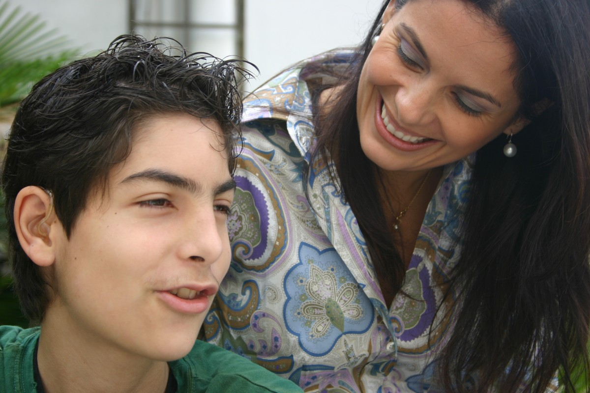 medium resolution of christina strong with her son joshua hellmann in 2007 joshua suffered from melas syndrome
