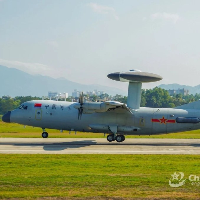 Taiwan says its planes shadowed and dispersed a PLA Air Force night flight that included KJ-500 airborne early warning aircraft. Photo: Weibo