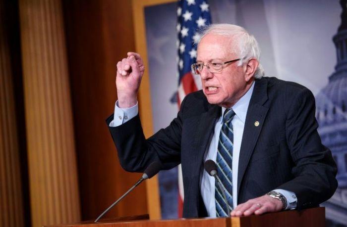 Le sénateur Bernie Sanders, candidat démocrate à la présidentielle américaine, le 13 décembre 2018 au Sénat