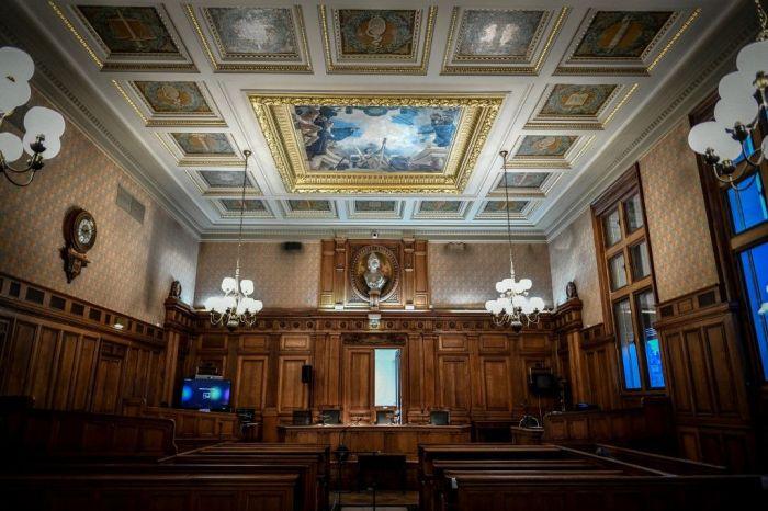 Une photo prise le 11 décembre 2019 montre une vue de la salle d'appel du palais de justice de Paris.