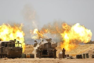 israeli artillery fire on gaza