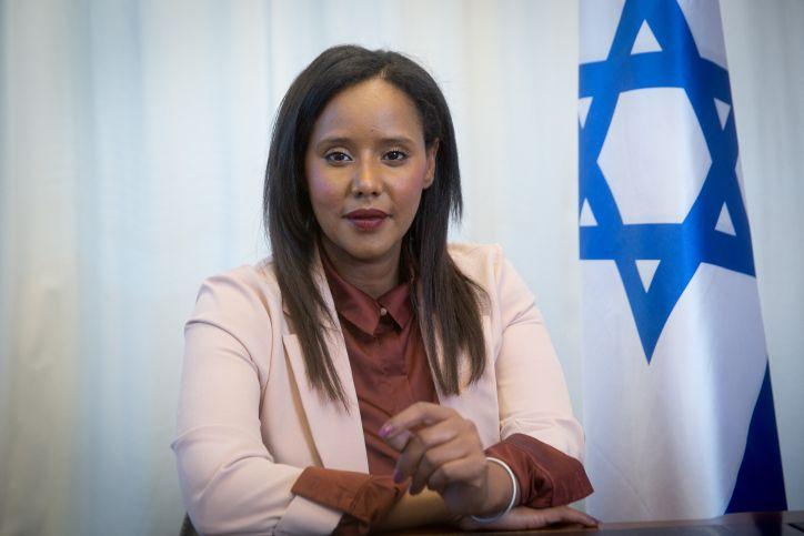 Portrait of Israeli minister of Aliyah and Integration Pnina Tamano-Shata, in Tel Aviv, February 10, 2021.