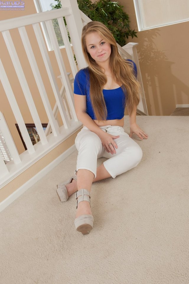 White Pants Wearing And Average Looking Teen Spreading Her Pussy Lips Iamxxx Com