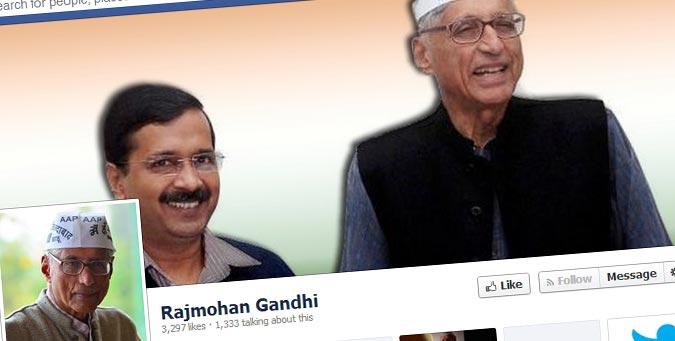 Rajmohan Gandhi, east delhi, maheish Girri, Hindu causes, kejriwal, aap