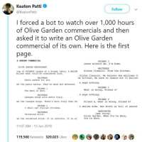 Bot Writes Olive Garden Commercial And The Results Are Too Funny
