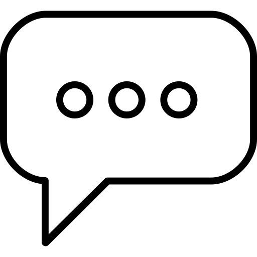 Chat, speech, bubble, rounded, rectangular, shape, outline