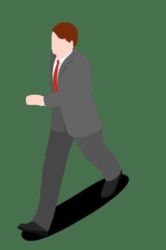 Executive walking people man Icon Free of City Basic