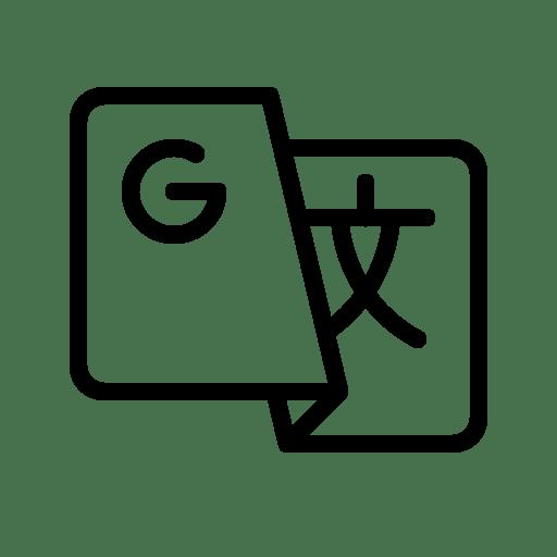 Google, translate, text, language, translation Icon Free