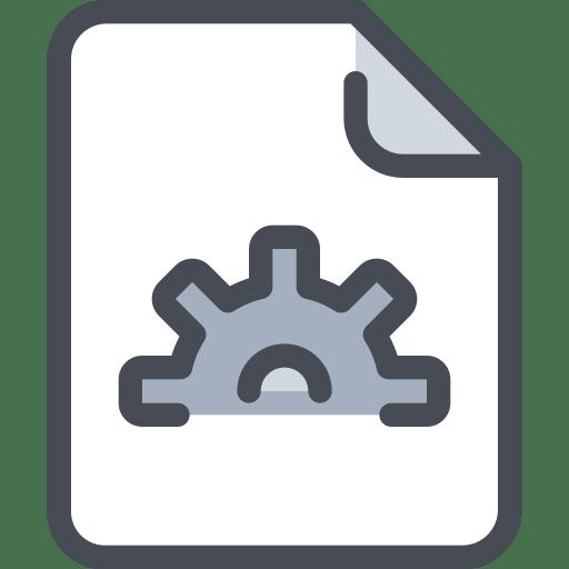 file document process icon