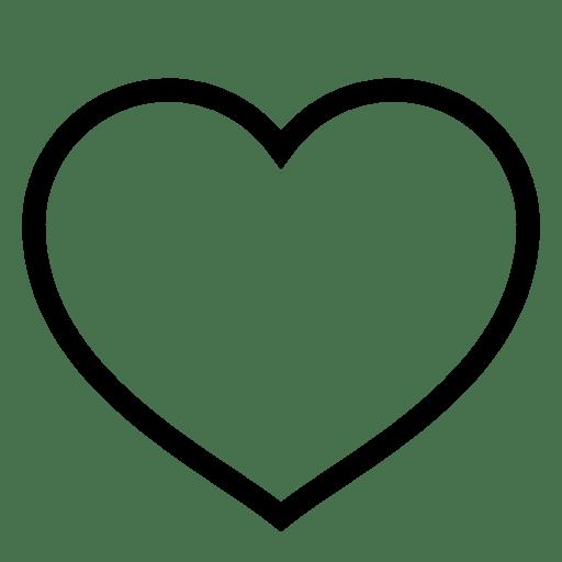 cone Como favorito corao Livre de iOS7 Minimal Icons