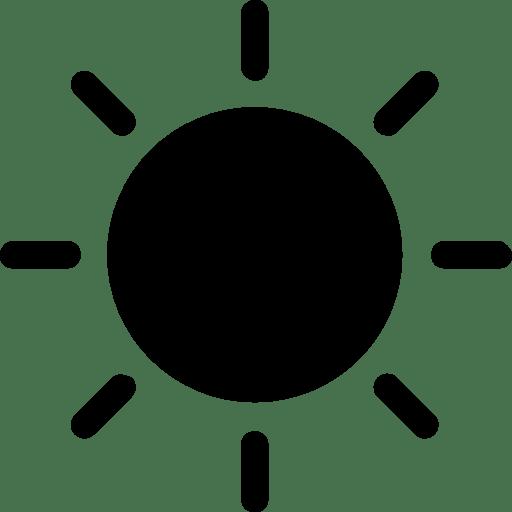 icone soleil noir symboi gratuit de