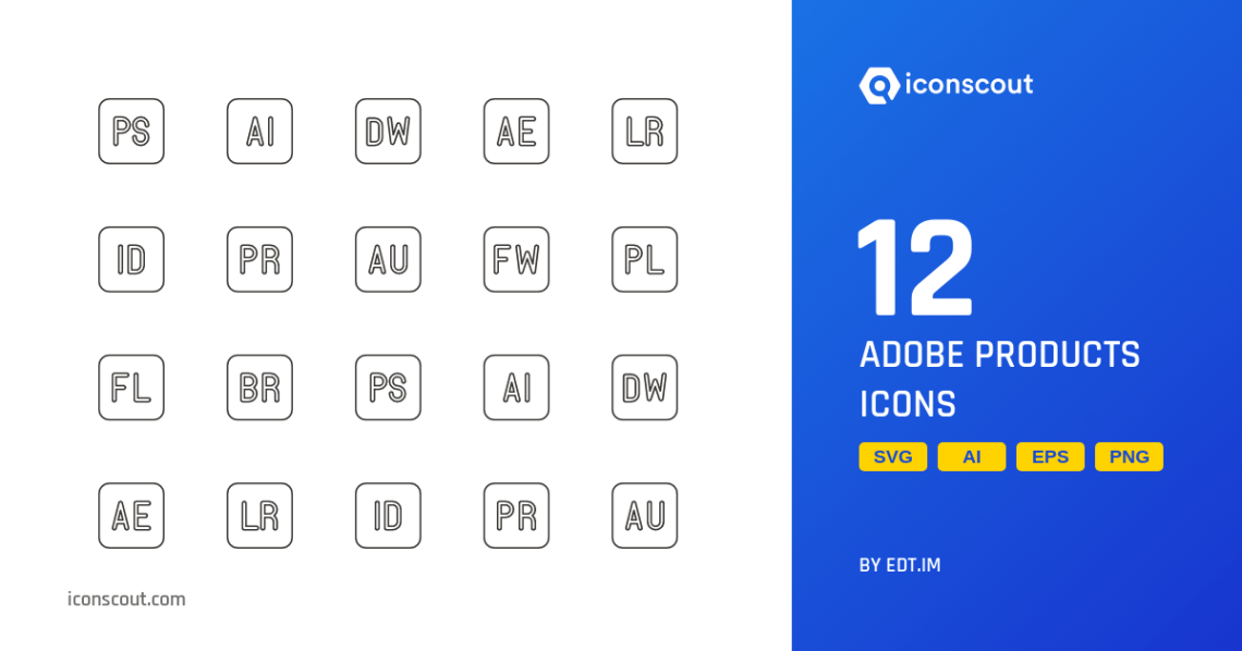 Download Download Adobe Products Icon pack - Available in SVG, PNG ...