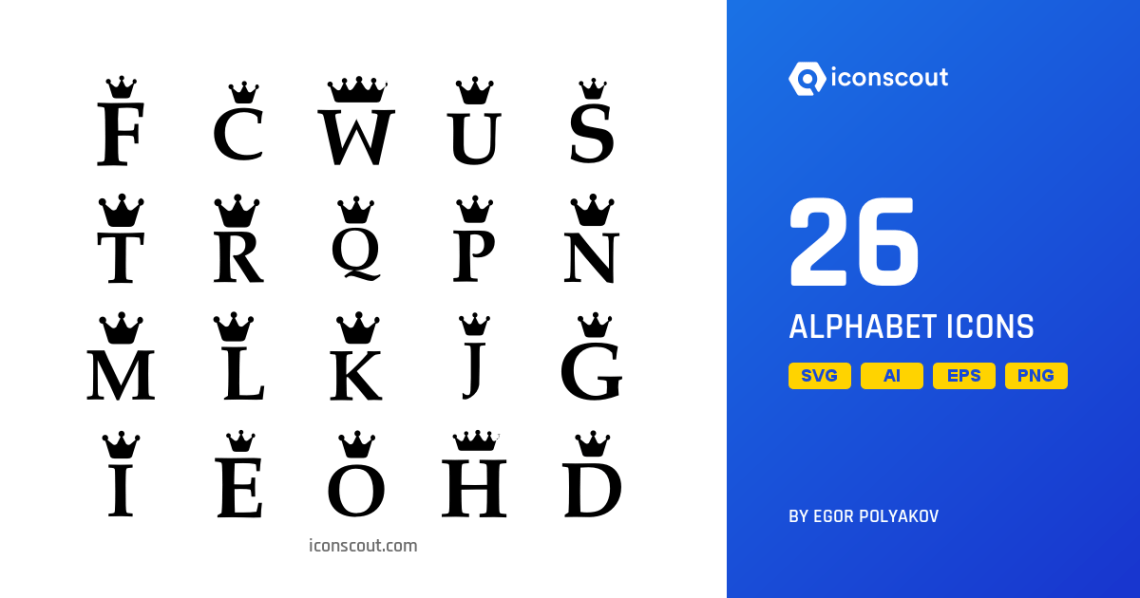 Download Download Alphabet Icon pack - Available in SVG, PNG, EPS ...
