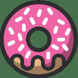 icon food donut sweet bakery gold desert svg vector outline moderator become select brilliant shark sand rose larry hiring