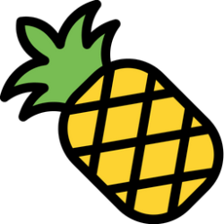 Pineapple Icon of Colored Outline style Available in SVG PNG EPS AI & Icon fonts