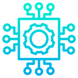 process icon of gradient