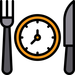 Food time Icon of Colored Outline style Available in SVG PNG EPS AI & Icon fonts